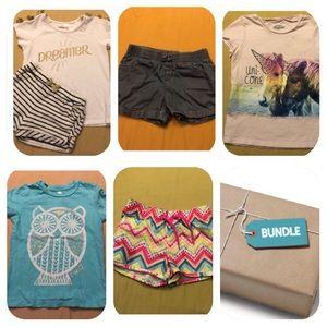 3 Shorts & 3 T-shirt Bundle Girls 5/5T